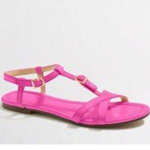 ❗️J. Crew Pink Patent Leather Sandals MSRP $118!